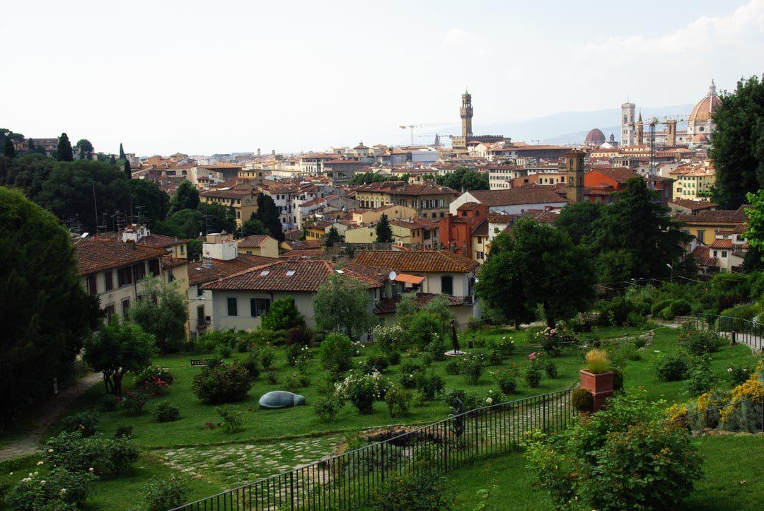 le jardin des roses à Florence