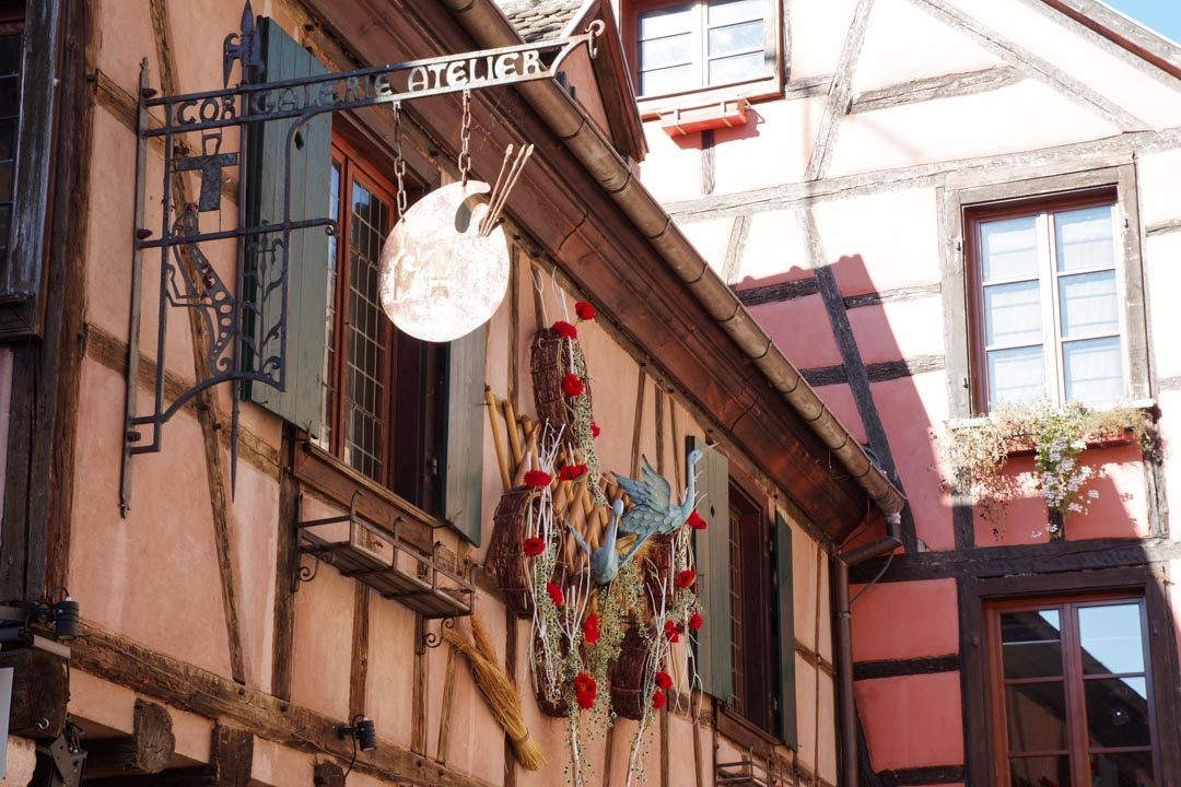 Maison décorée en Alsace