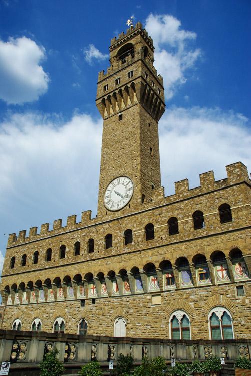 la façade du Palazzo Vecchio de Florence