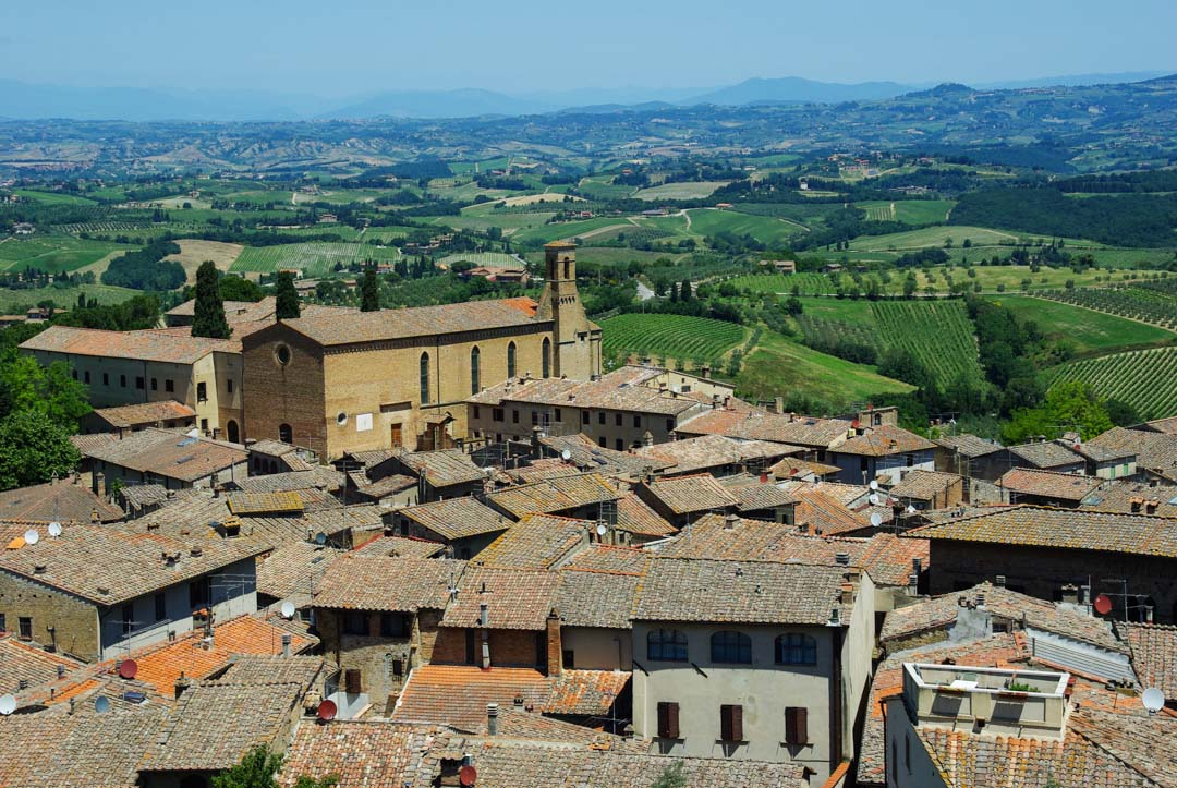 Panorama sur le village de San Gimignano