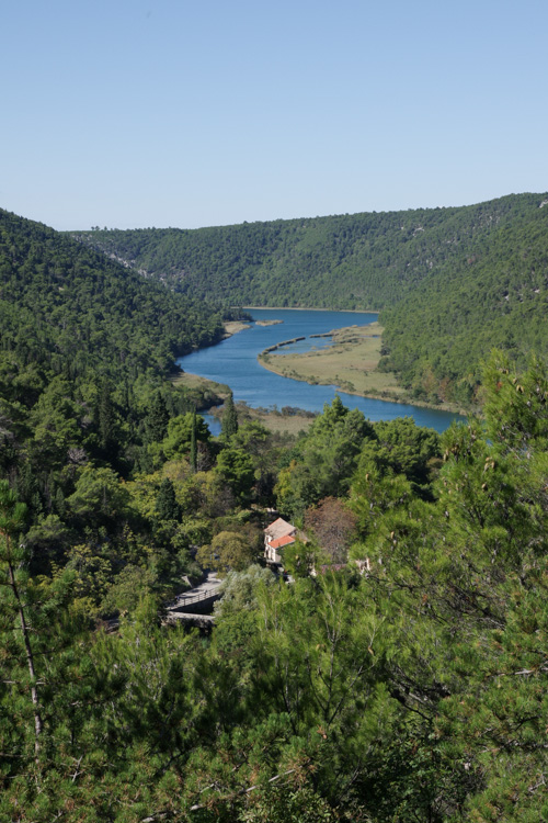 Panorama sur la rivière Krka