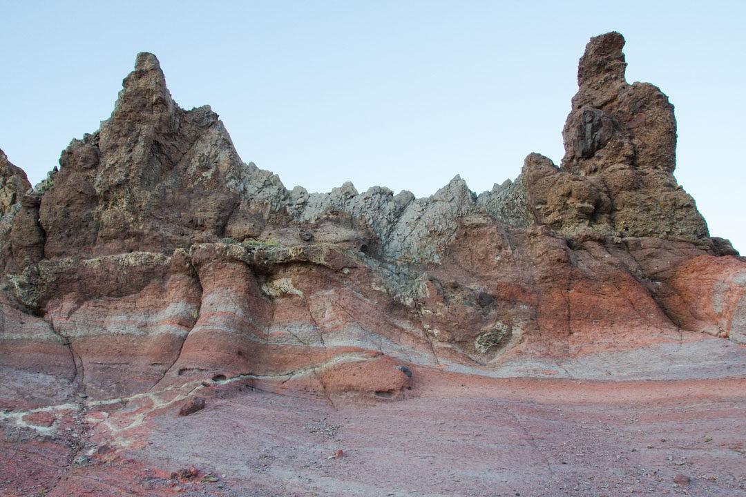 les roches de toutes les couleurs - parc national du Teide