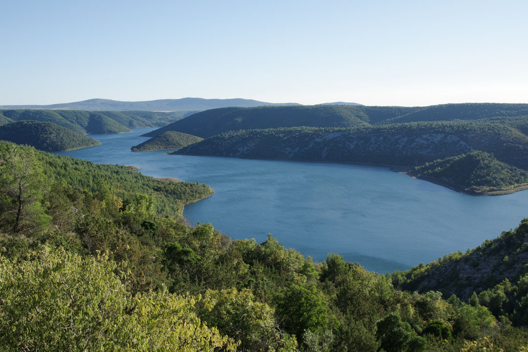 Point de vue rivière Krka