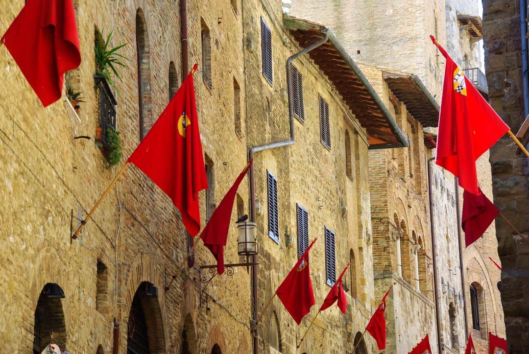 les rues médiévales de San Gimignano