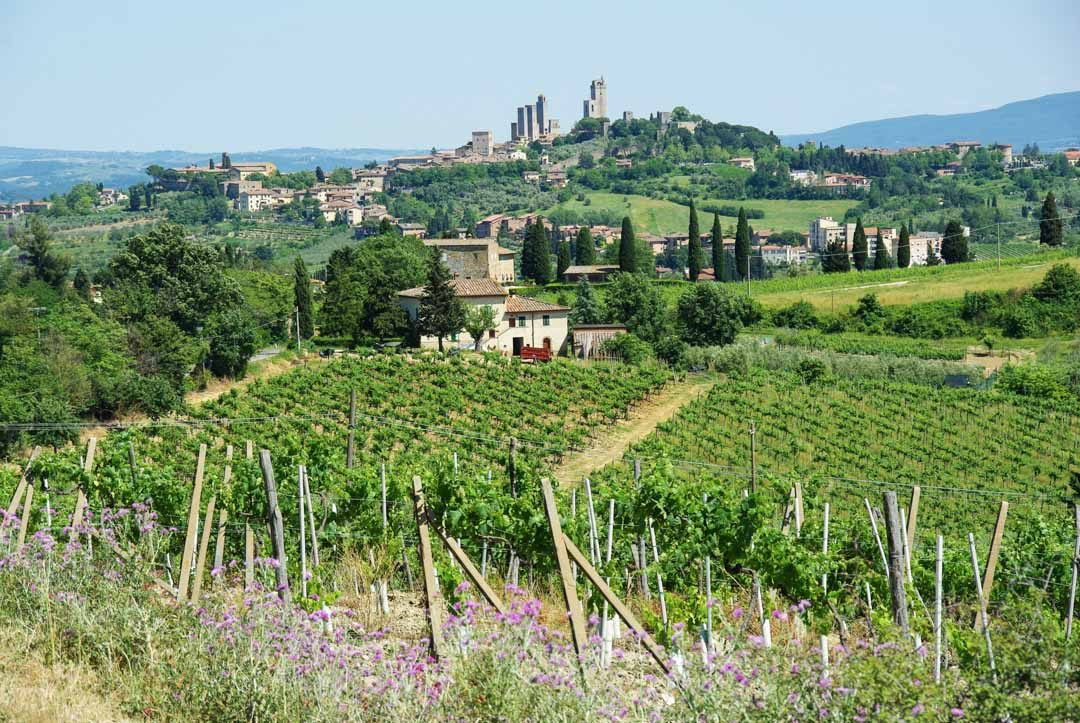 village de San Gimignano en Toscane
