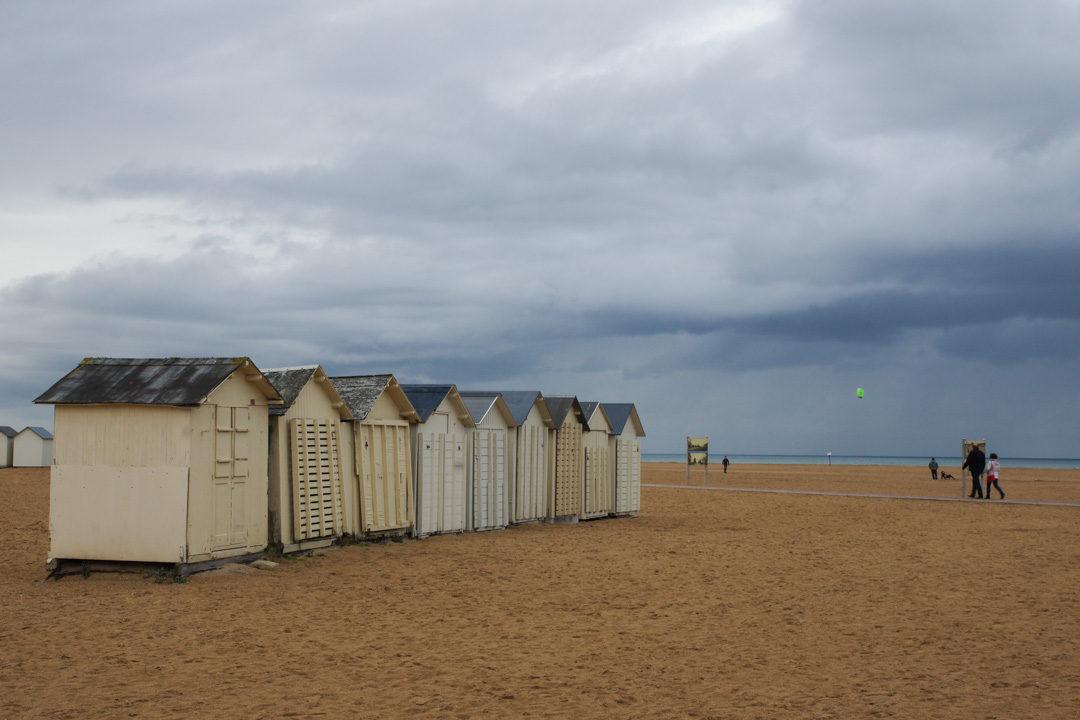 les cabanons de plages de Ouistreham