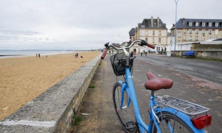 La Véloroute littorale entre Ouistreham et Luc sur Mer
