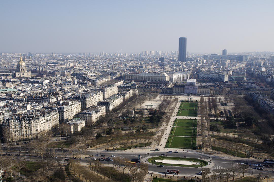 Panorama sur le Champs de Mars depuis la Tour Eiffel