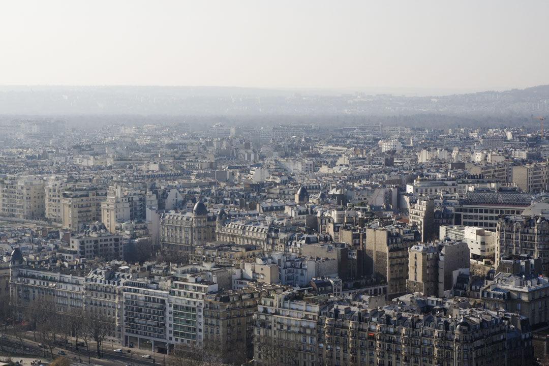 Les toits de Paris vus depuis la Tour Eiffel