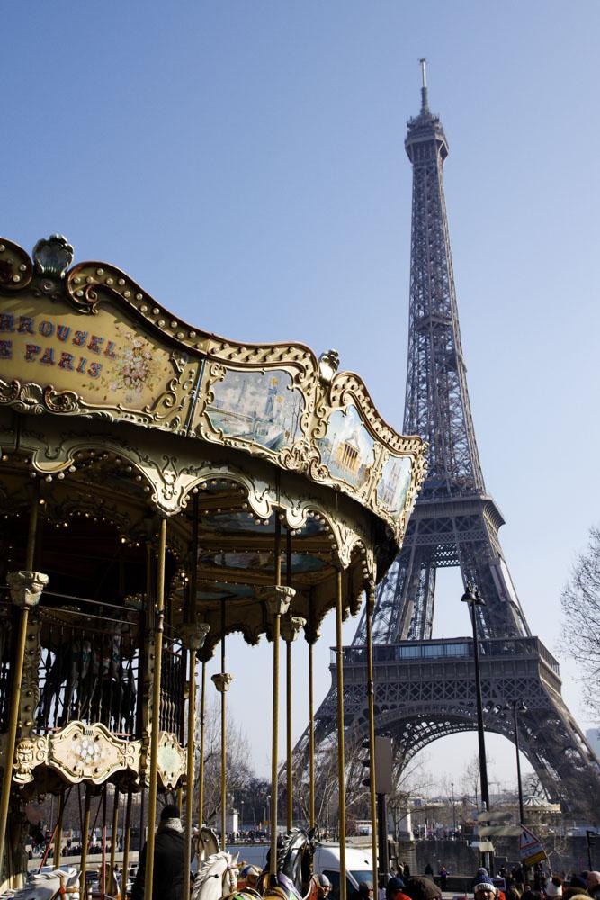 Tour Eiffel avec le caroussel du Trocadéro