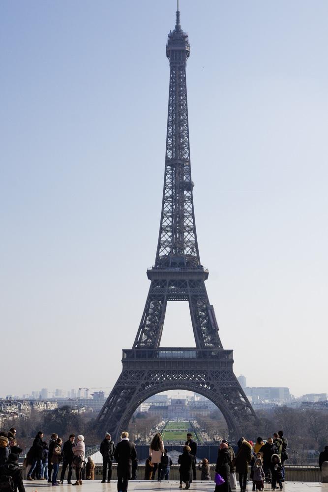 Vue sur la Tour Eiffel depuis le Trocadéro