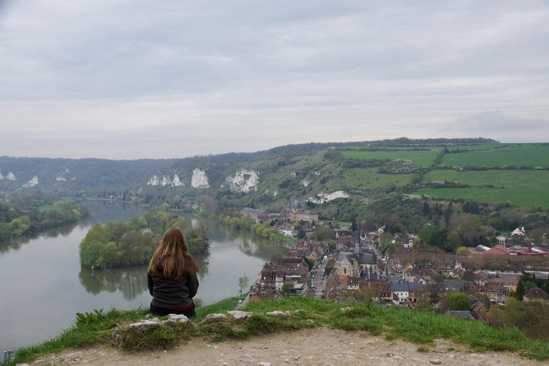 Panorama sur la Seine et le Village des Andelys