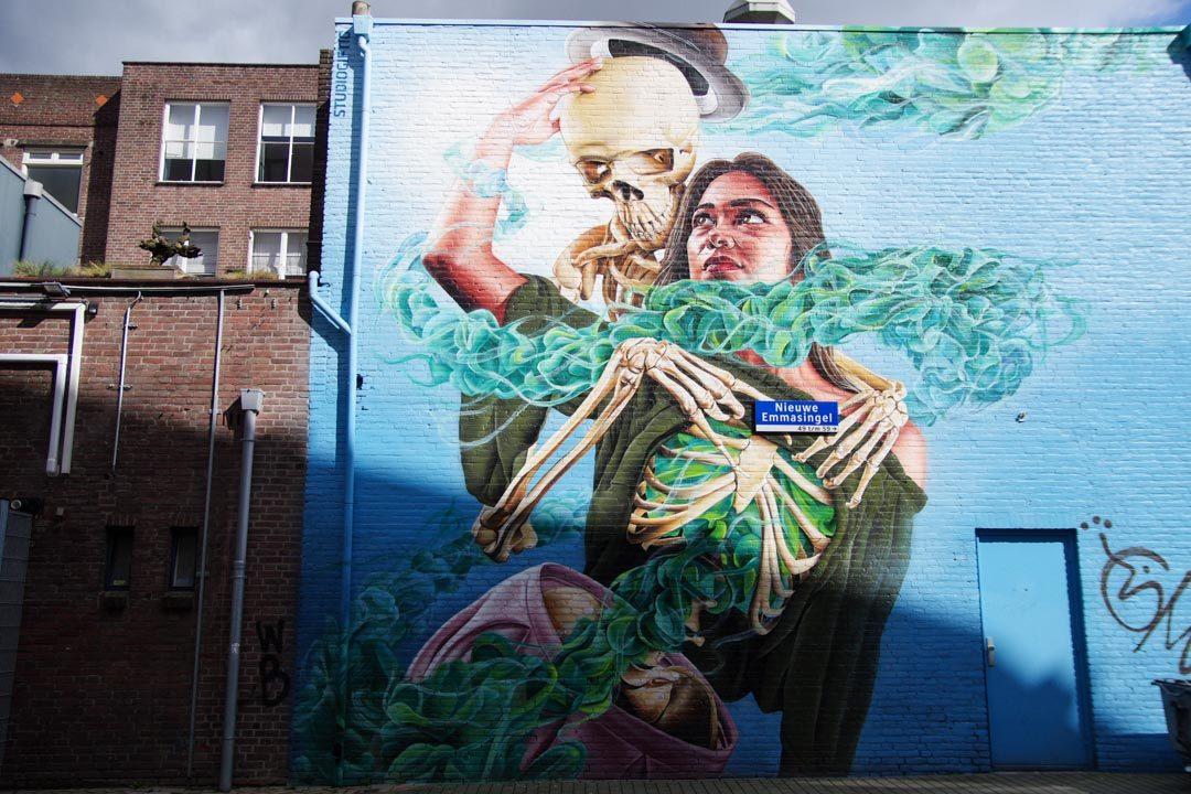Fresque Street Art à Eindhoven