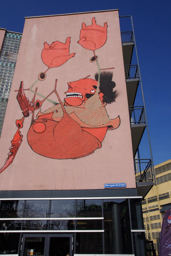 Oeuvre Street Art dans le quartier de la Gare Centrale - Rotterdam