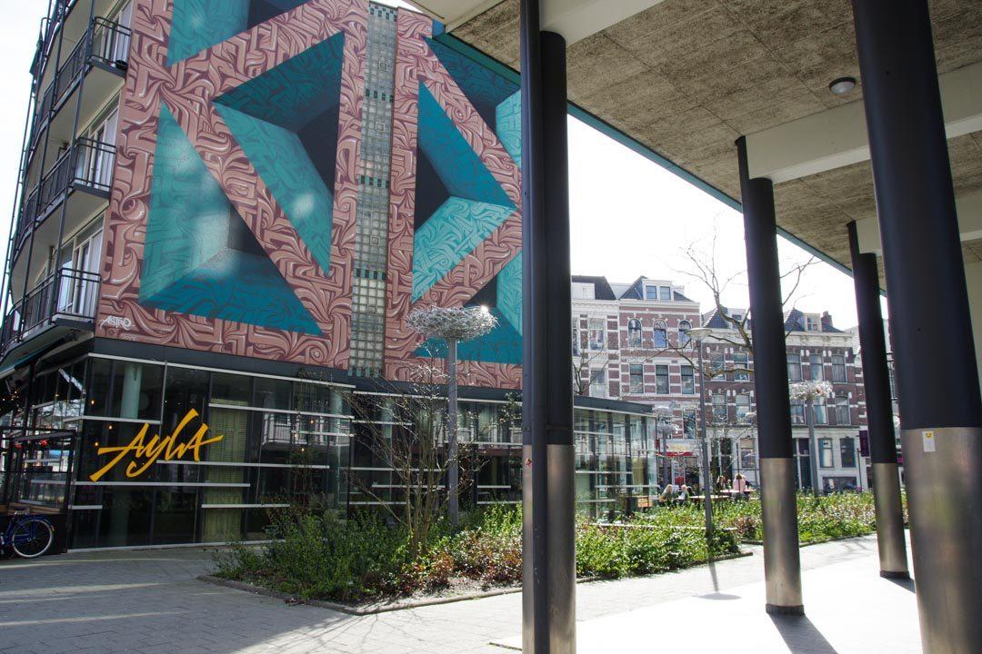 Fresque de Street Art dans le quartier de la Gare Centrale - Rotterdam