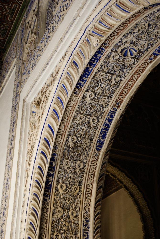 détail de l'architecture mudejar - Alcazar de Seville