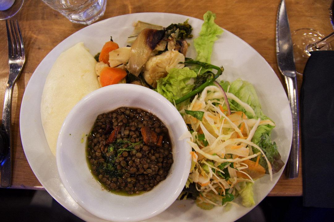 Assiette végétarienne - Coq de la Place