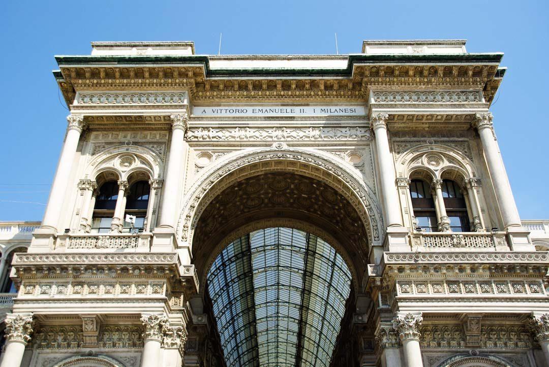 Entrée Galerie Vittorio Emanuele II - Milan