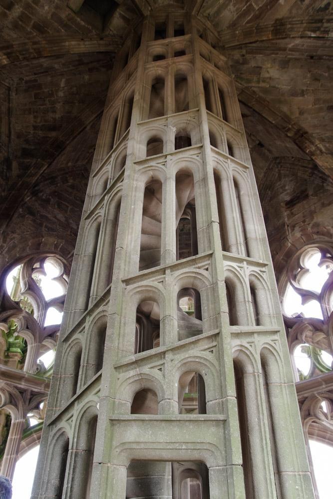 Escalier intérieur de la tour de la cathédrale de Rodez