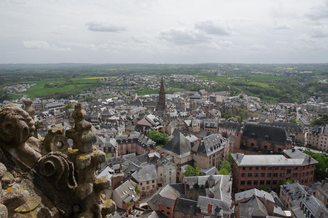 Panorama de Rodez vue depuis la Tour de la cathédrale