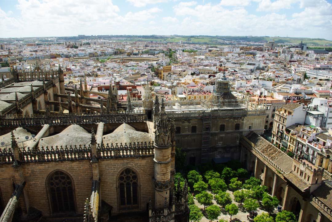 Toit de la cathédrale de Seville
