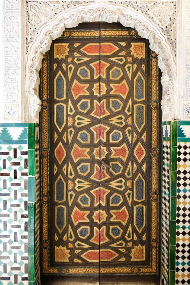 une porte décorée - Palais de l'Alcazar de Seville