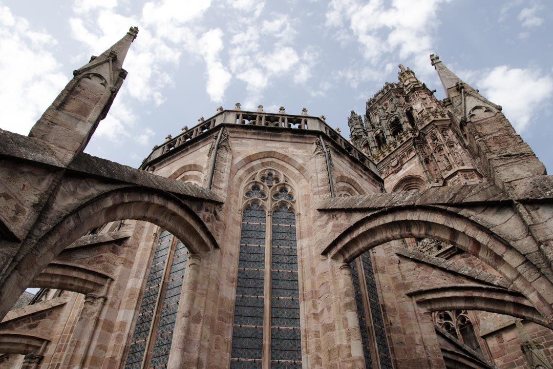 Les toits de la cathédrale de Rodez