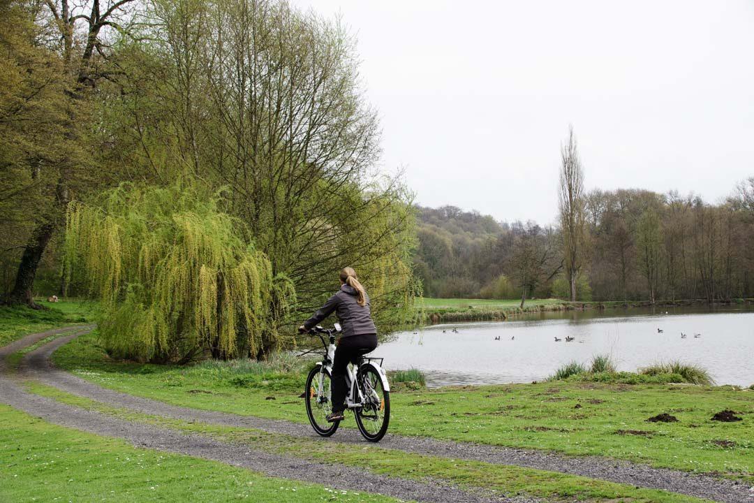Balade à vélo à l'Abbaye de Mortemer