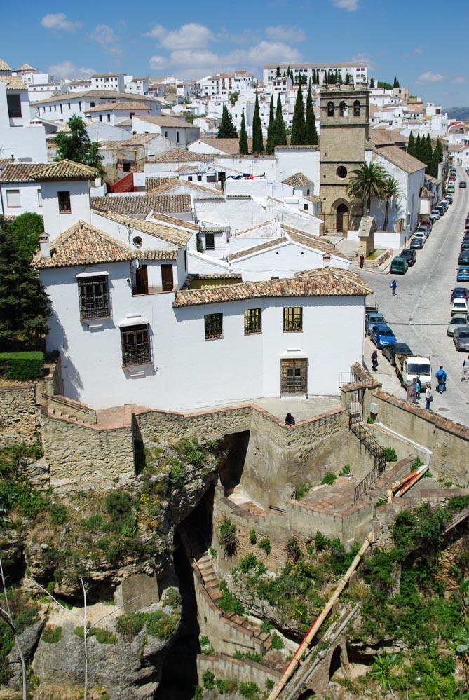 Les maisons blanches d'Andalousie