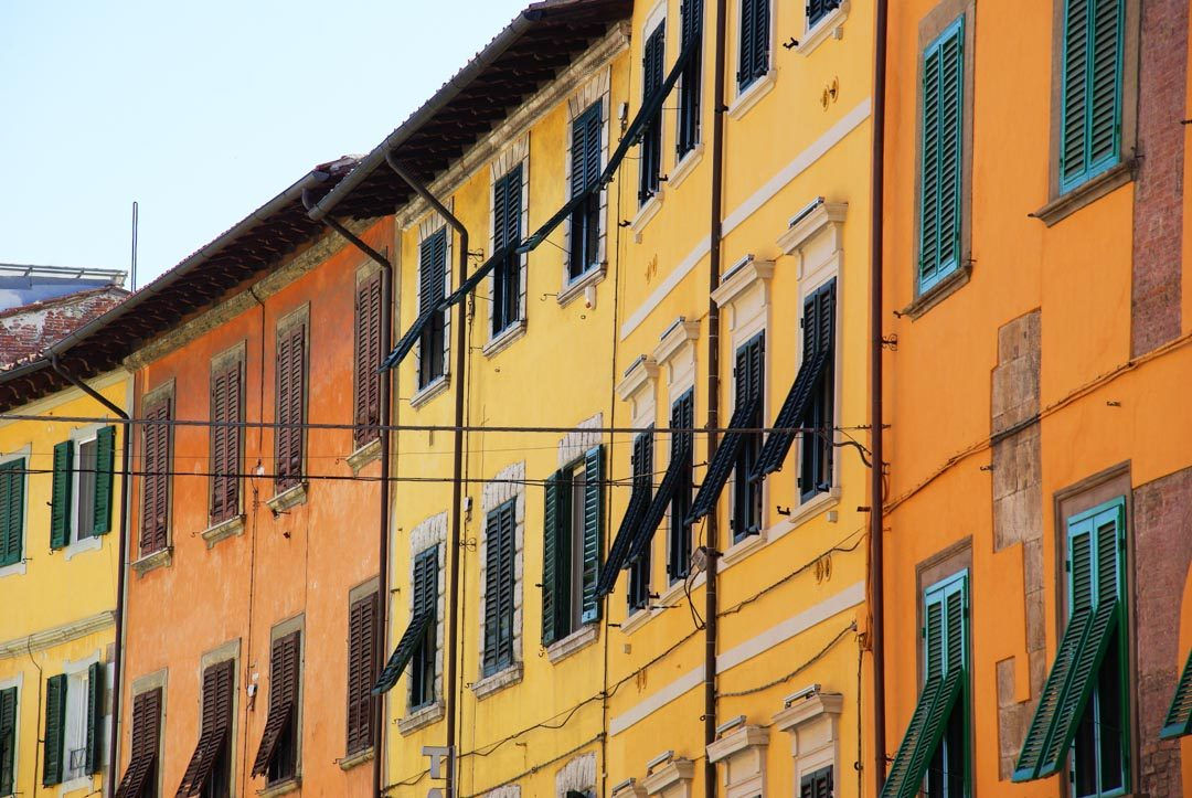 Maisons colorées de Pise