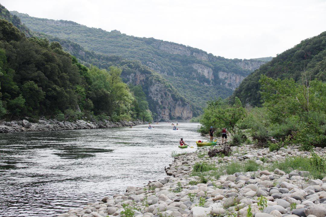 Descente des Gorges de l'Ardèche en Canoe
