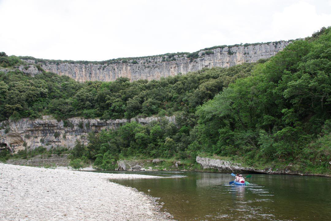 Descendre les Gorges de l'Ardèche en Canoe