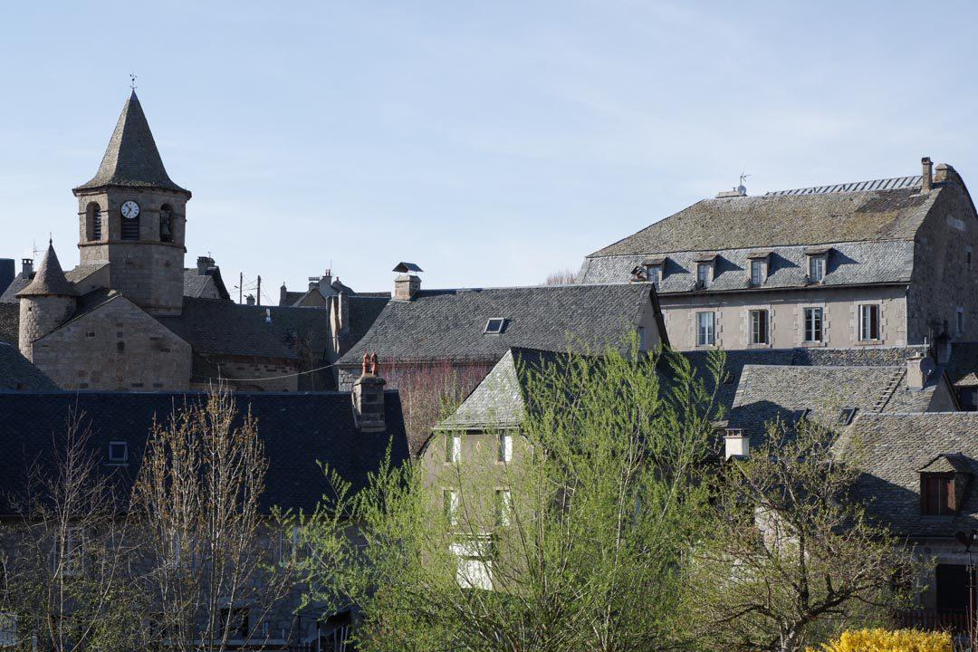 Le Village de Nasbinal sur le plateau de l'Aubrac