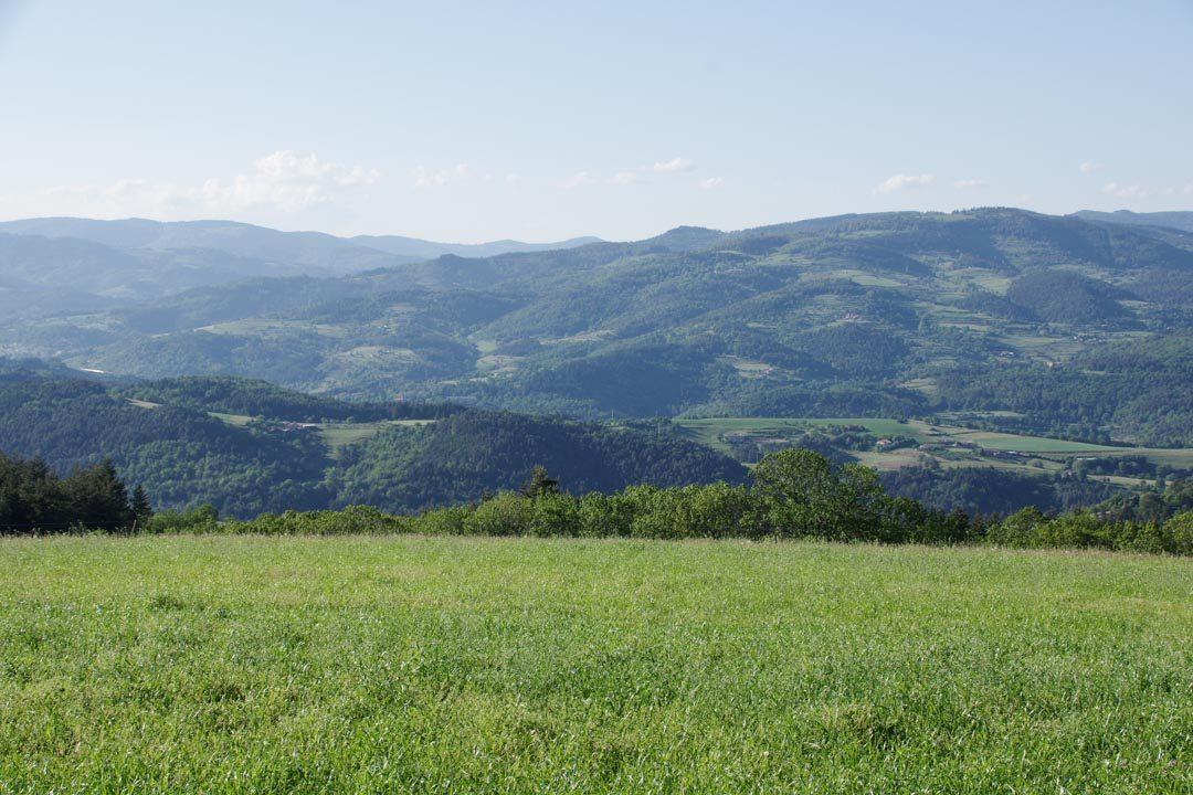 Panorama sur les Monts d'Ardèche