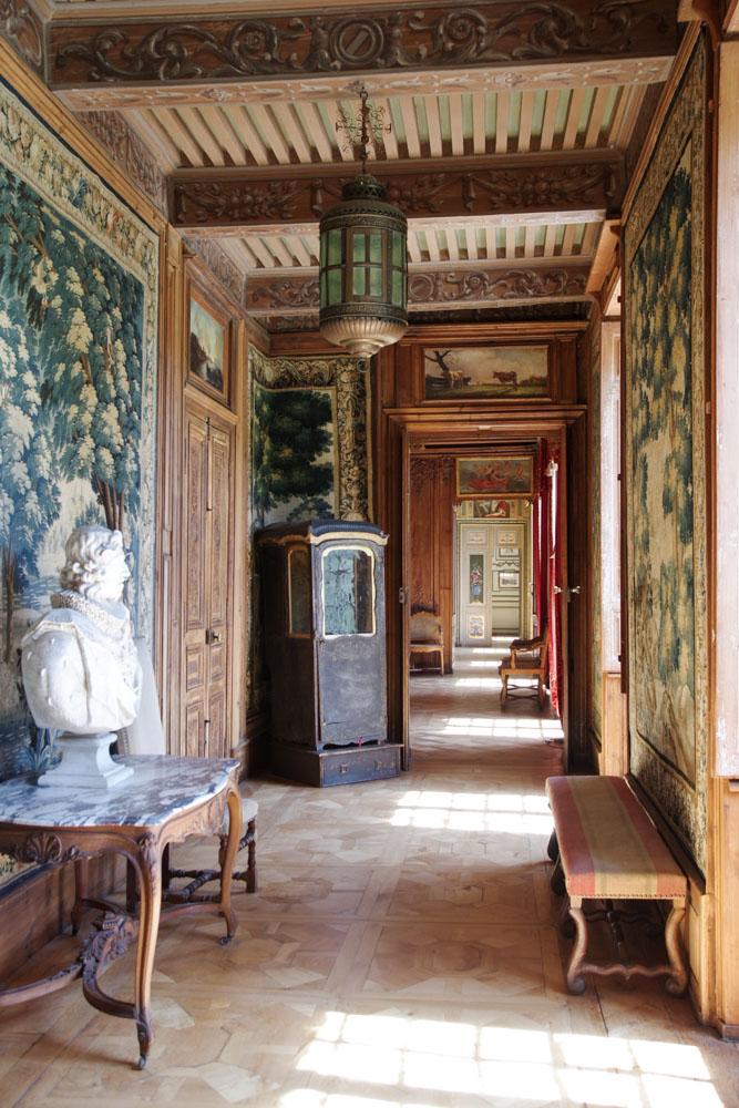 intérieur du château de la Baume