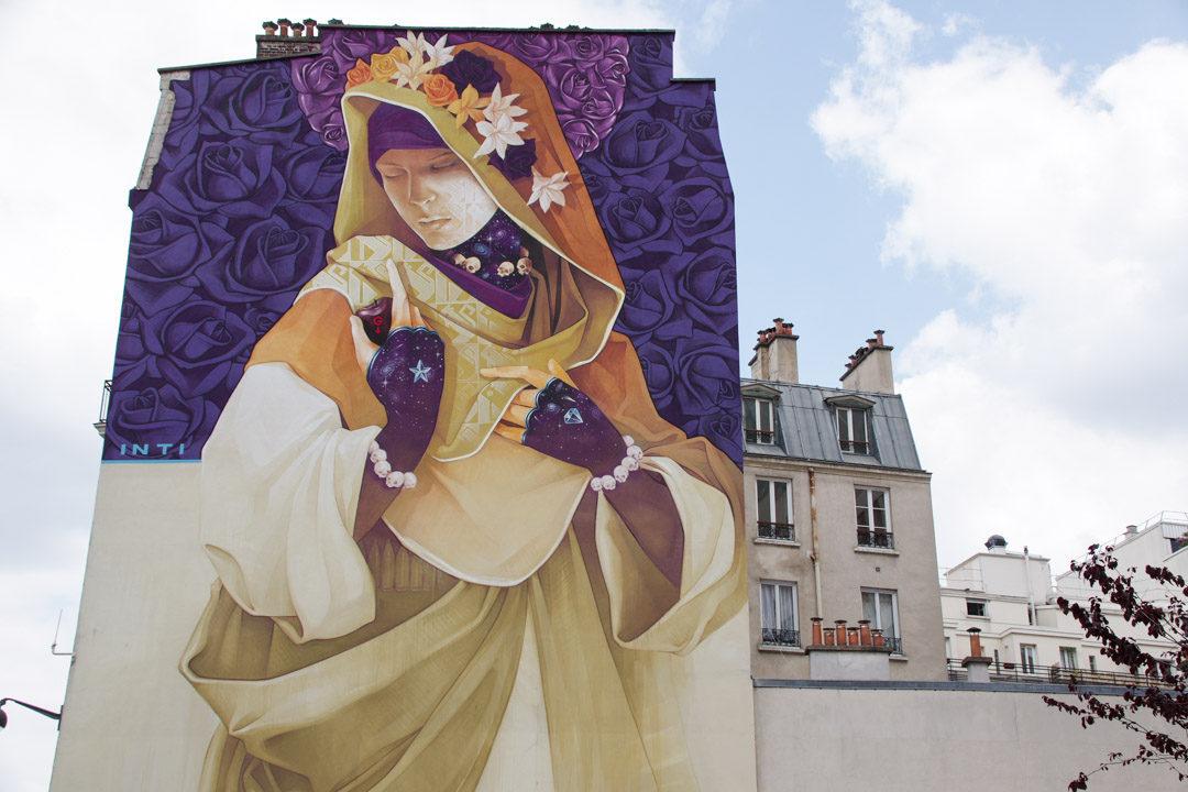 Fresque street art Init Paris 13