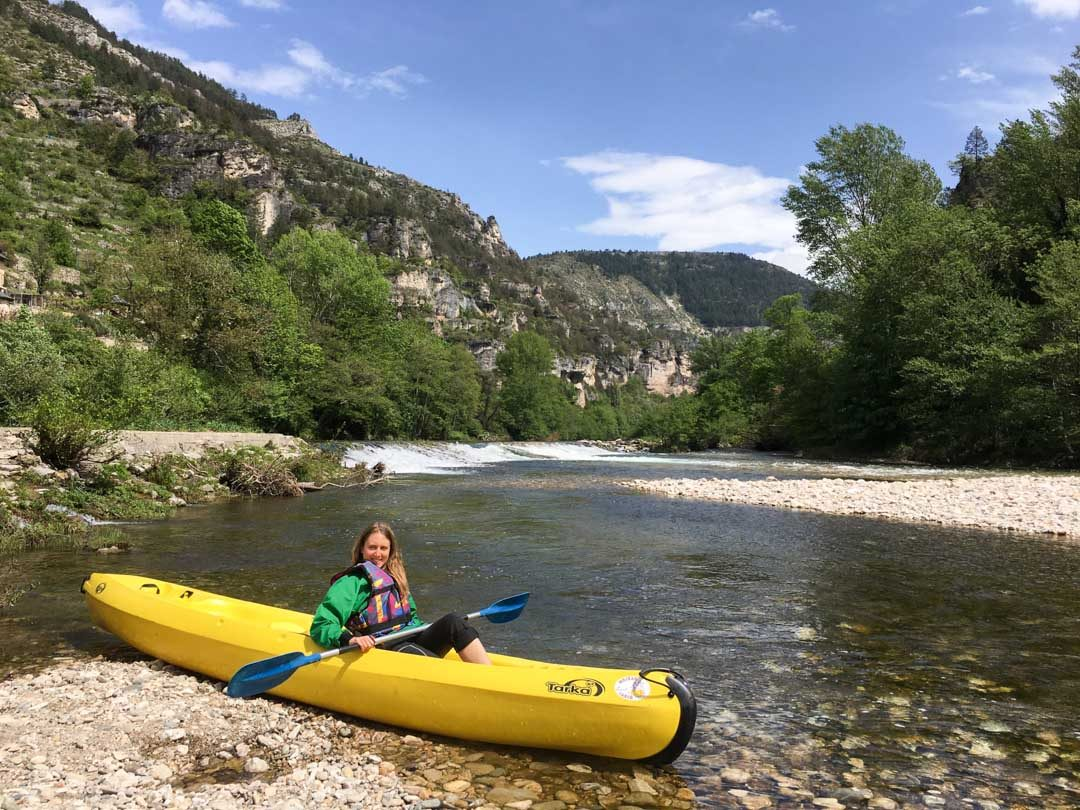 descente en kayak des Gorges du Tarn en Lozère