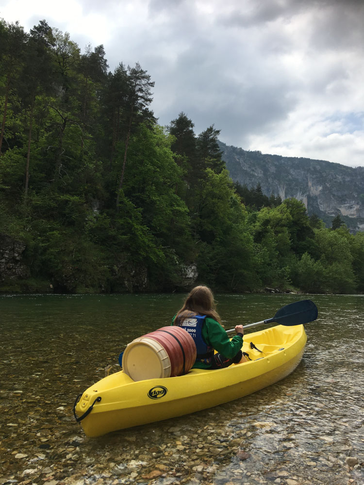 descente en kayak des Gorges du Tarn