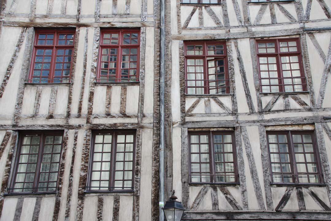 Maisons à colombages dans le quartier du Maris à Paris