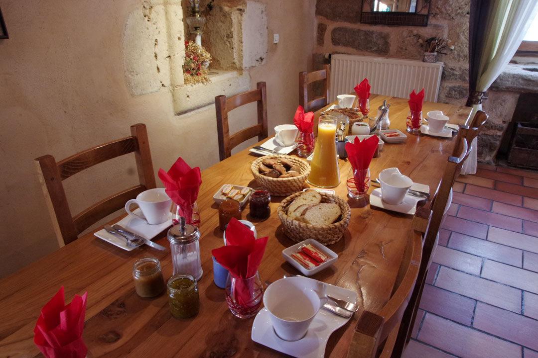 Petit déjeuner à la Chambre d'Hôtes du Domaine de la Vialette