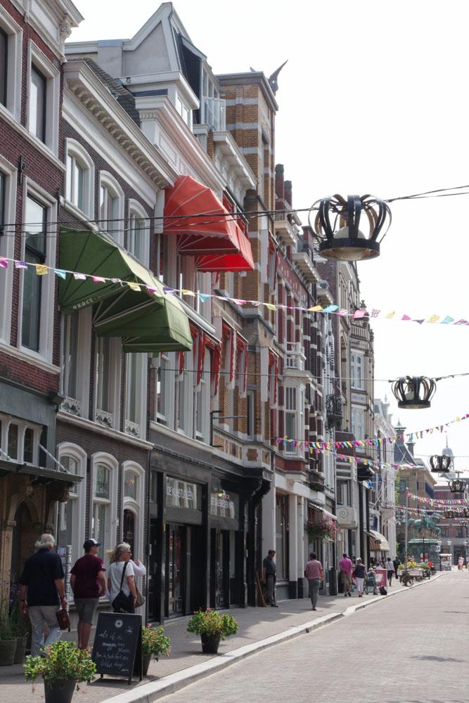 Rue dans le centre ville de La Haye