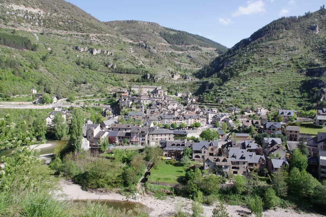Le village de Sainte Enimie en Lozère