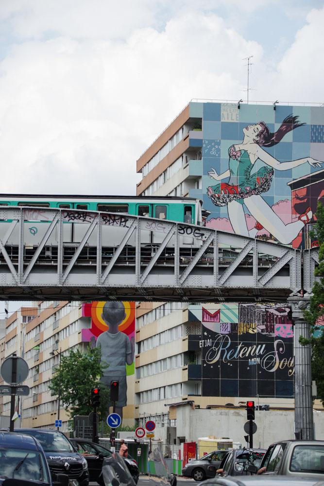 Parcours street art 13 le long du boulevard Vincent Auriol