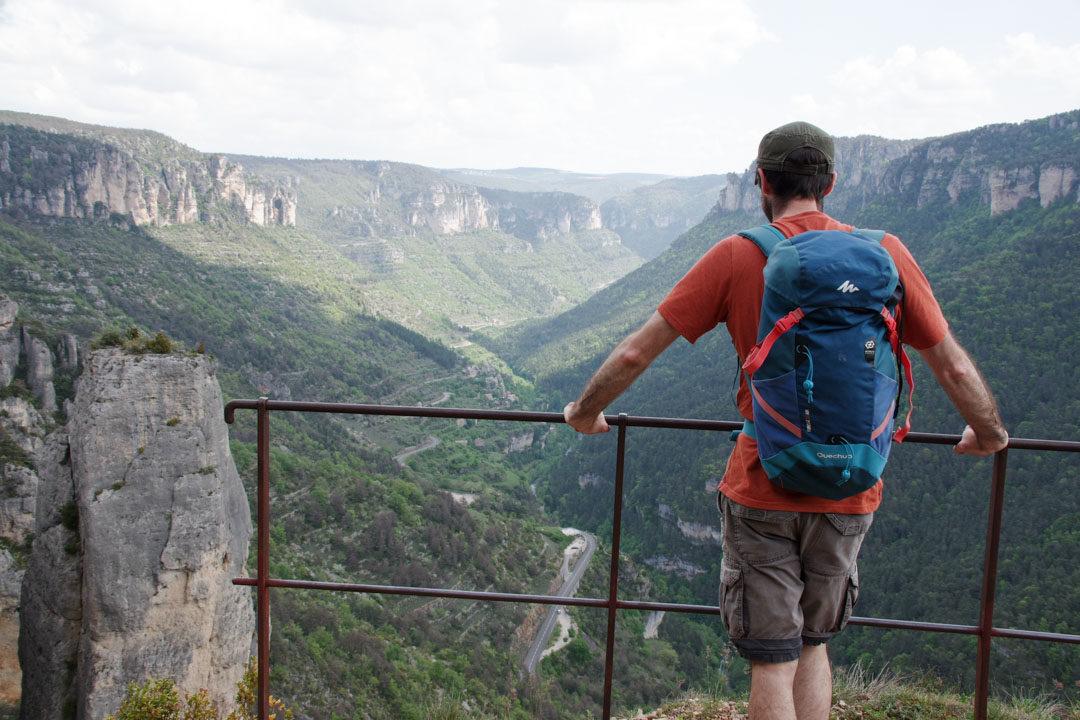 le Balcon des Vertiges avec le panorama sur les gorges de la Jonte