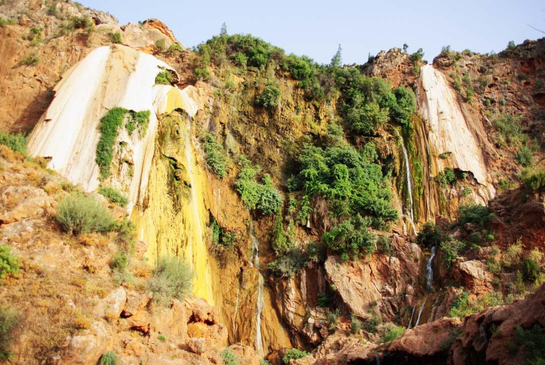 cascade d'Imouzzer des Ida Outanane à sec