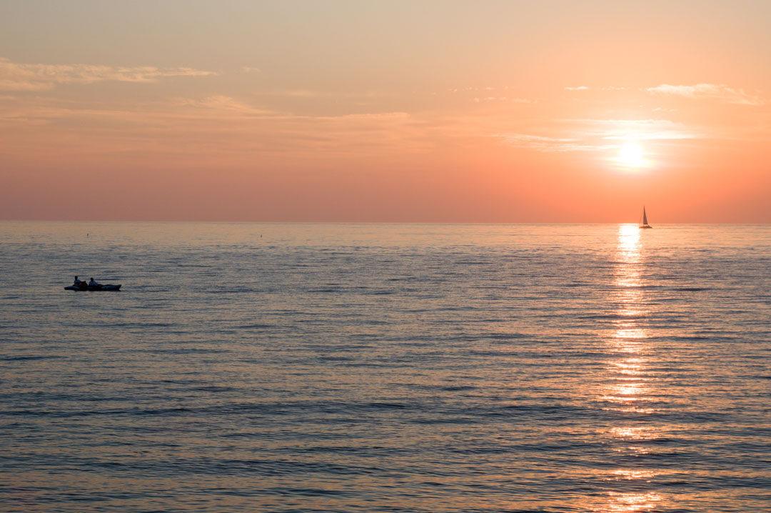 Coucher de Soleil sur la plage de Fécamp