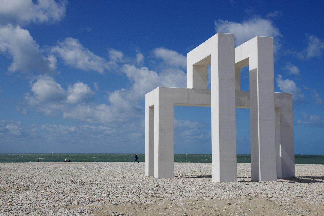 Installation UP#3 sur la plage du Havre
