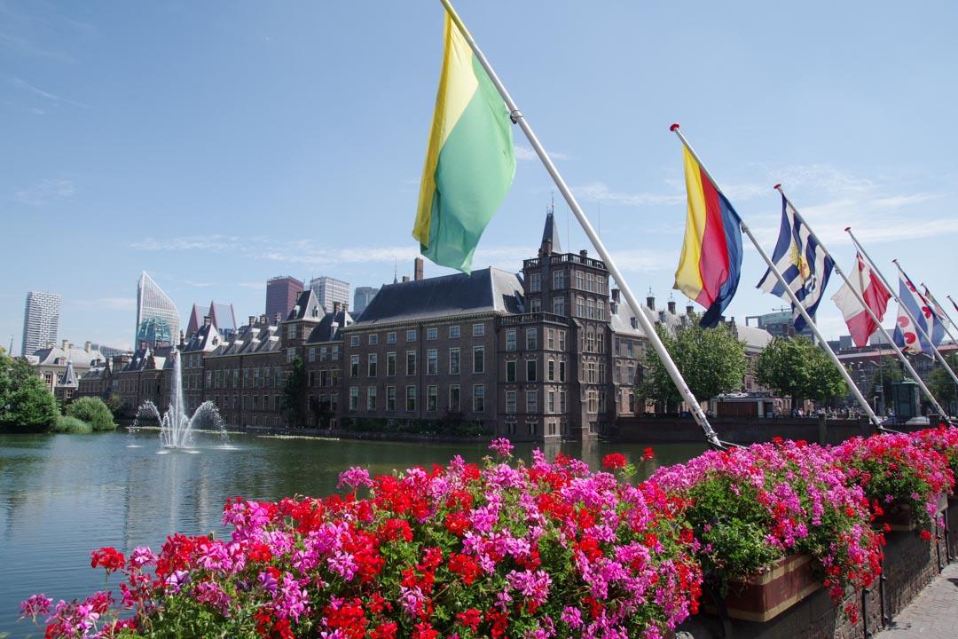 Bassin Hofvijver et vue sur le parlement des Pays Bas