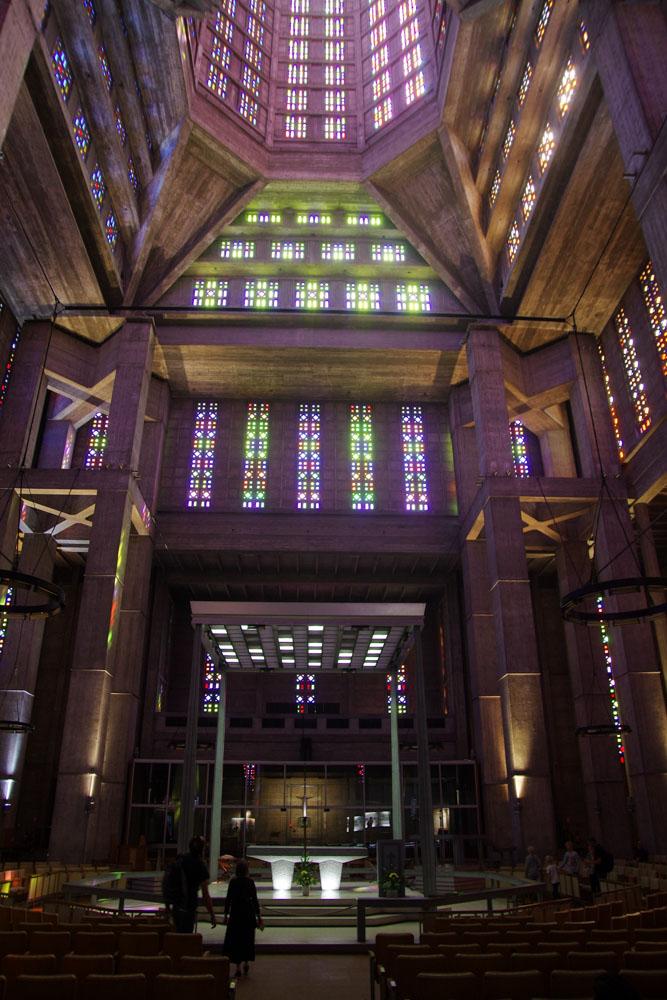 l'intérieur de l'Eglise Saint Joseph - Le Havre