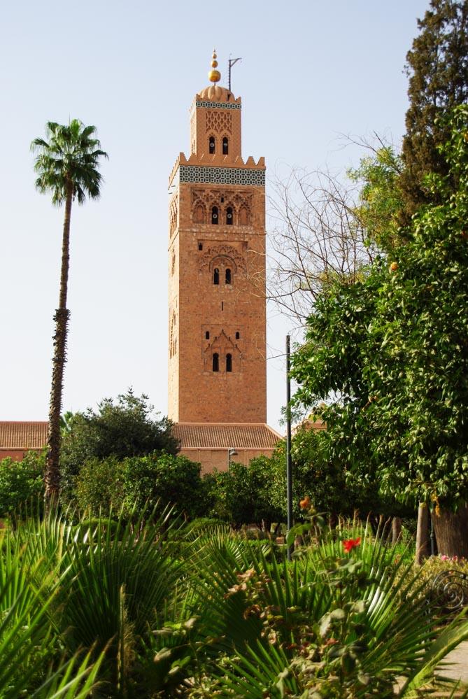 Minaret de la mosquée de la Koutoubia à Marrakech